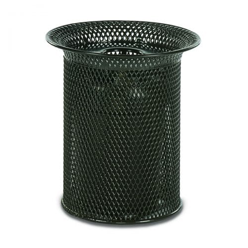 32 gallon flare top receptacle diamond pattern