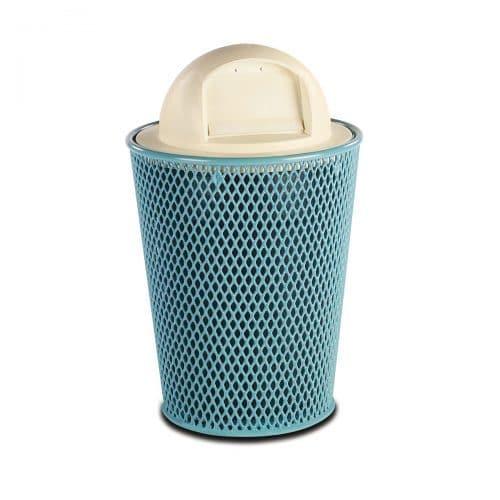 32 gallon Diamond Pattern trash receptacle