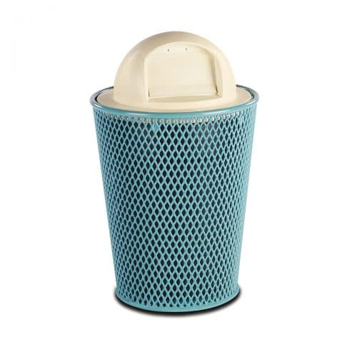 32 gallon Diamond Pattern trash receptacle
