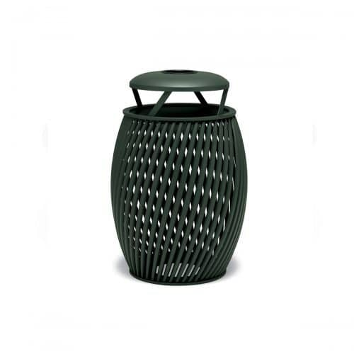 trash can with ash bonnet