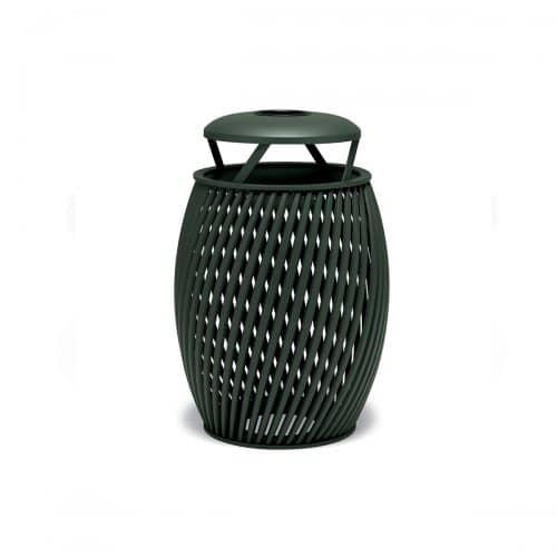trash can with ash bonnet