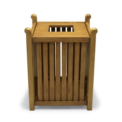 York collection trash receptacle in faux wood