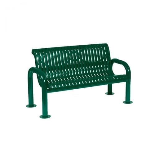 4ft long inground rib pattern bench