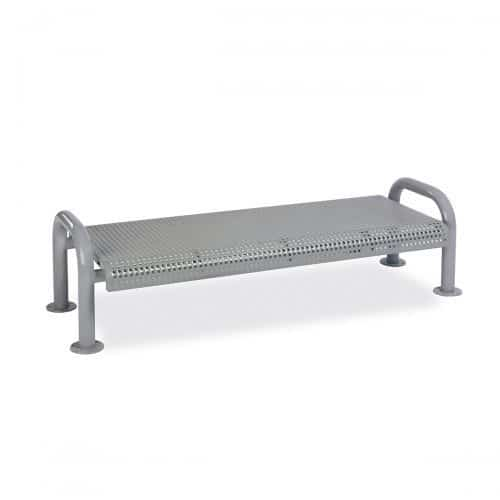 6ft perforated no back bench
