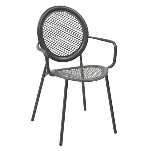 antonietta arm chair with steel mesh seat and back