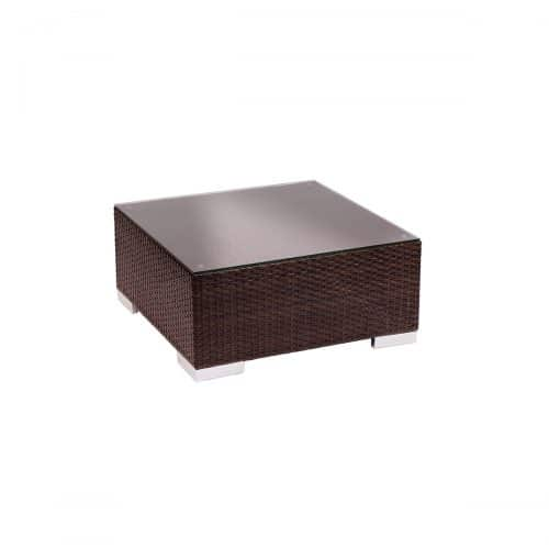 weave outdoor cofffee table in dark brown