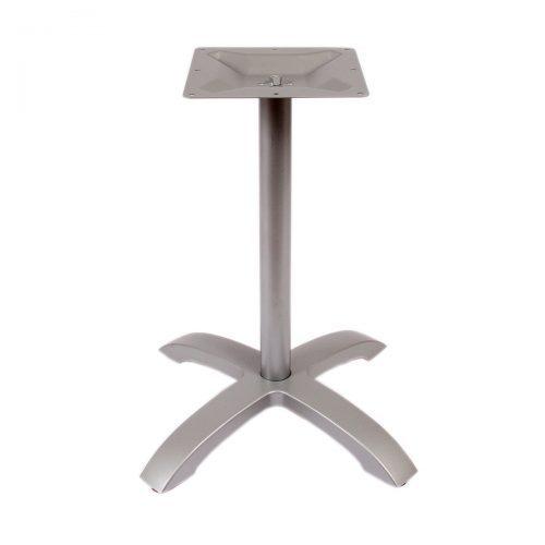 silver outdoor table base