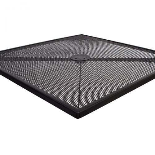 black mesh outdoor table top