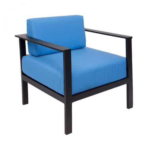 outdoor armchair in black