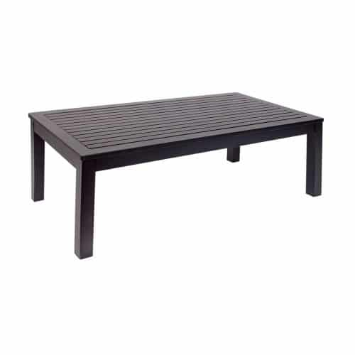 black outdoor coffee table