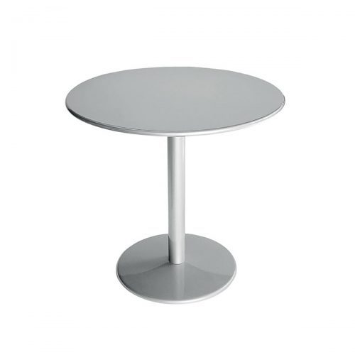 Solid steel round table and base