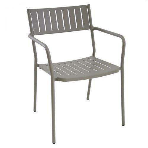 steel slat Bridge arm chair