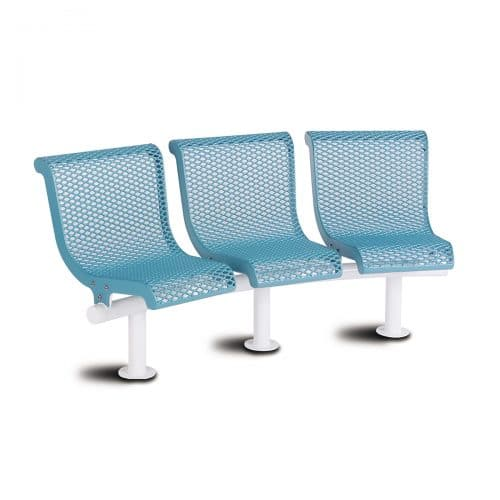 concave bench with backs seats 3