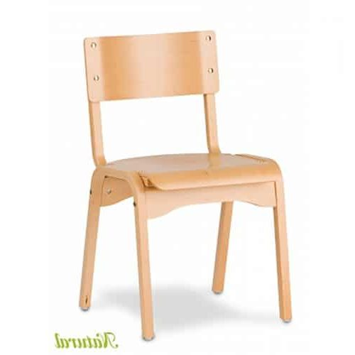 wood chair with natural finish
