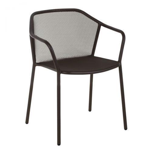 Darwin steel mesh arm chair in black