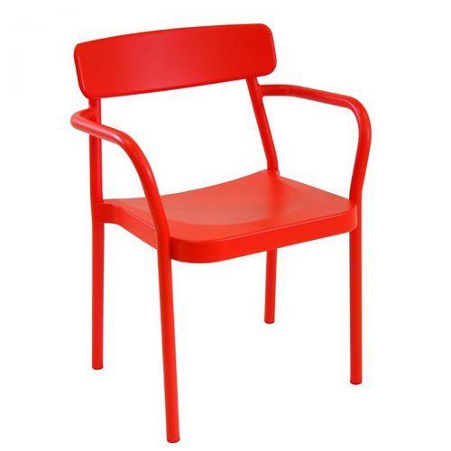 grace arm chair in aluminium