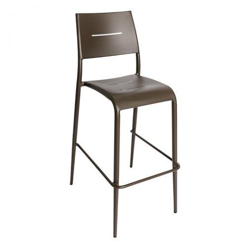 bronze outdoor stackable barstool with no arms