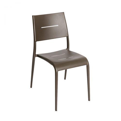 bronze outdoor stackable armchair