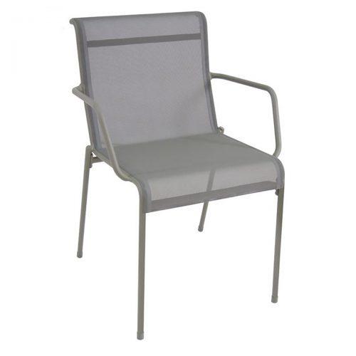Kira arm chair with aluminum and textilene fabric