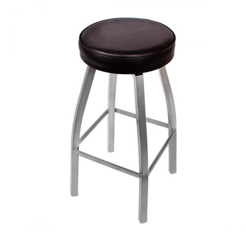swivel metal barstool with silver finish