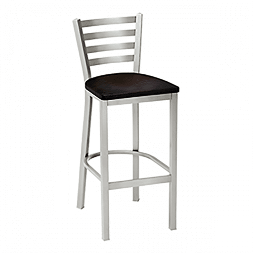metal barstool with horizontal back bars and wood seat