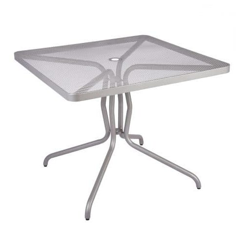 silver mesh outdoor table