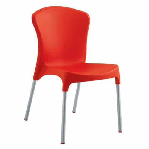 ppl and aluminum frame side chair