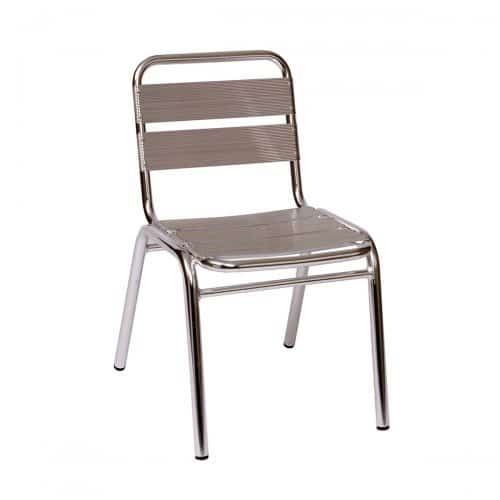 aluminum outdoor side chair