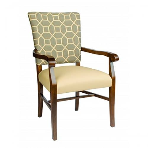 accent arm chair with upholstery back and seat