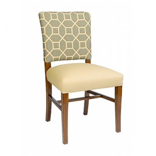 accent side chair with low back and upholstery