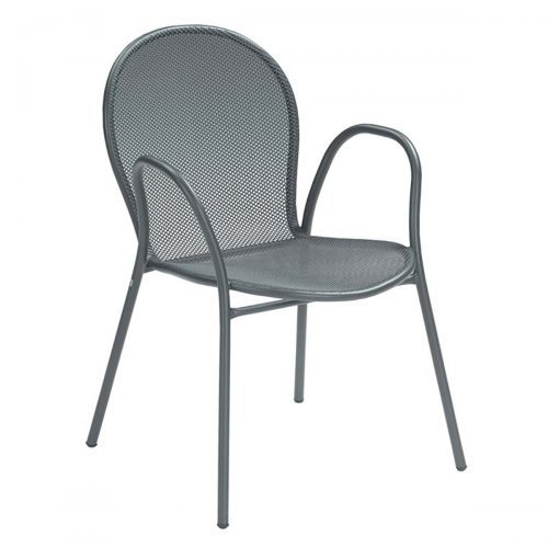 Ronda HD extended steel mesh arm chair