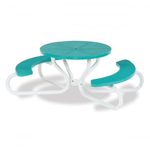 "42"" round table with concave seating"