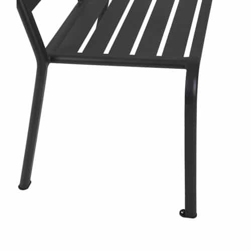 aluminum outdoor bench in black finish