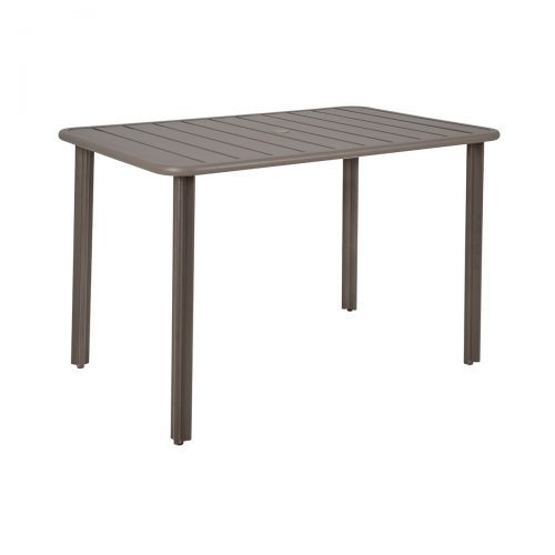 aluminum outdoor table in earth finish