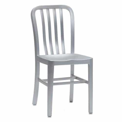 Square tubular aluminum side chair