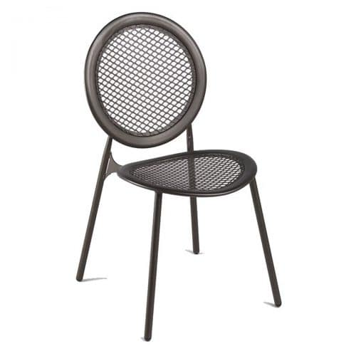 steel with mesh seat and back side chair