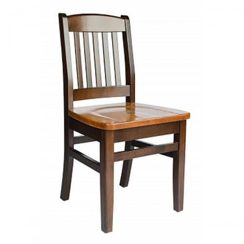 wooden chair with wood seat