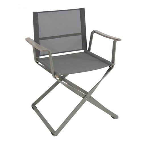 ciak arm chair in aluminum with textilene fabric