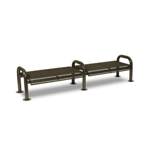 8' bench outdoor seating no back