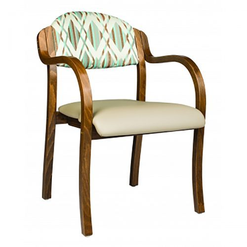 comfortable arm chair with upholstered seat and back