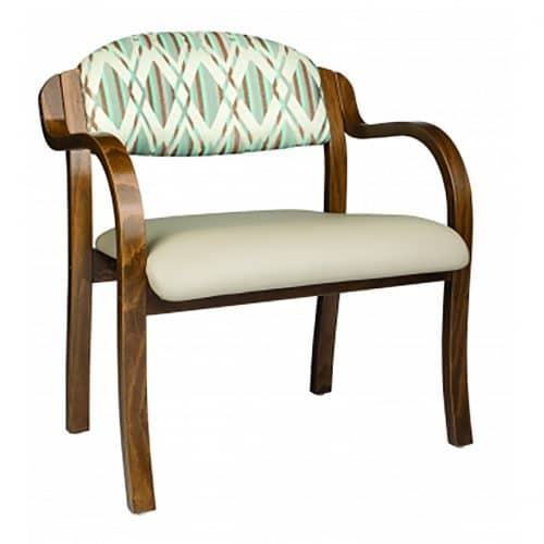 upholstered bariatric stackable arm chair