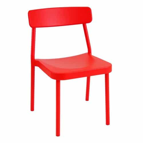 aluminum stackable side chair