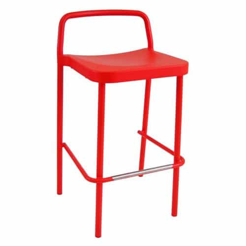 grace barstool with an aluminum structure in cherry