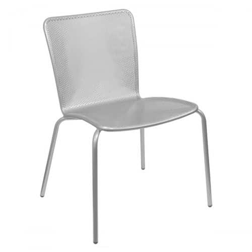 Steel with mesh seat and back