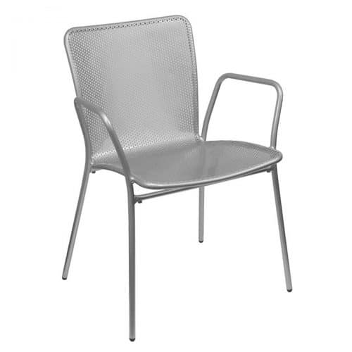 khali perforated steel mesh arm chair