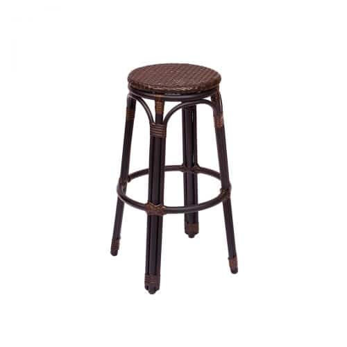 outdoor brown weave barstool
