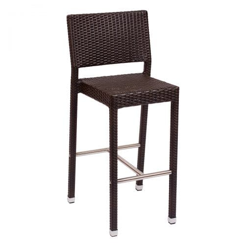 brown weave outdoor barstool