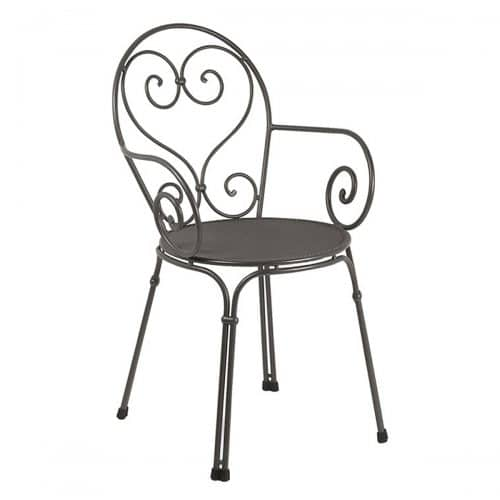 pigalle arm chair with wrought iron frame