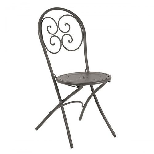 pigalle tubular steel with design pattern side chair