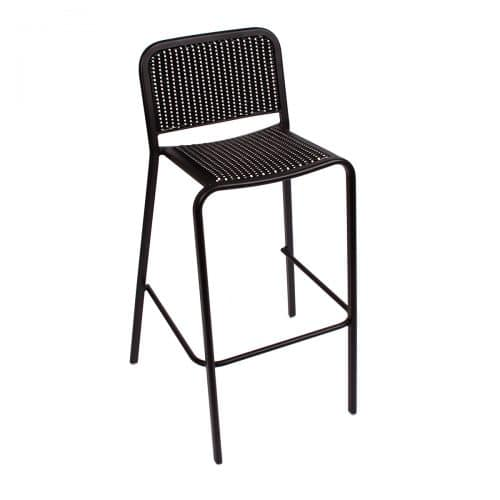 black weave outdoor side chair